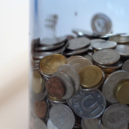 Sparbössan med guldpengar