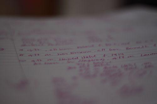 365 foton 105. Handskrivet (31 av 365)
